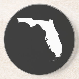 Florida in White and Black Beverage Coasters