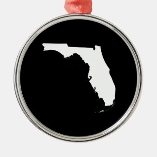 Florida in White and Black Christmas Ornament