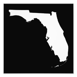 Florida in White and Black Photo Print