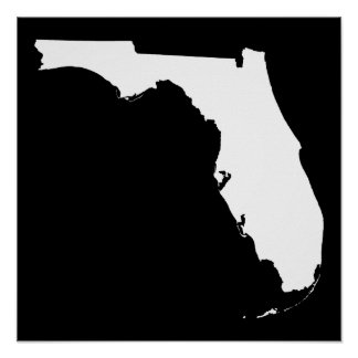 Florida in White and Black Poster