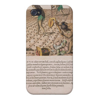 Florida Indians planting maize iPhone 4 Case