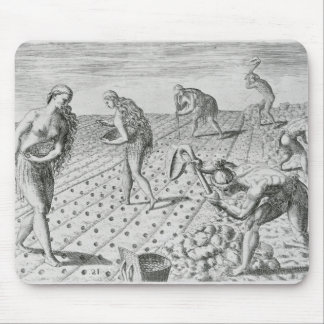 Florida Indians planting maize Mouse Mat