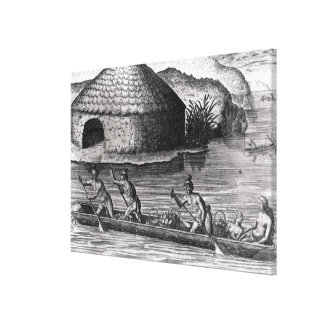 Florida Indians Storing their Crops Canvas Print