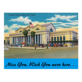 Florida, Jacksonville, Terminal Station Postcard