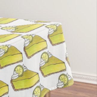Florida Key Lime Pie Slice Dessert Foodie Baking Tablecloth