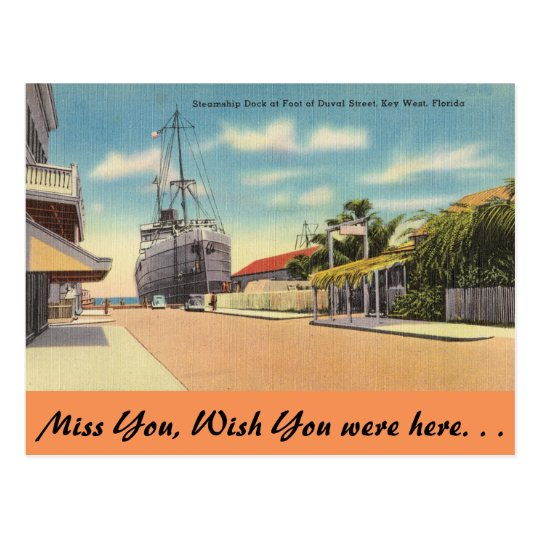 Florida, Key West, Duval St. Postcard