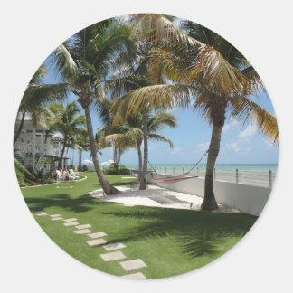 Florida Keys American Beach - ReasonerStore Round Stickers