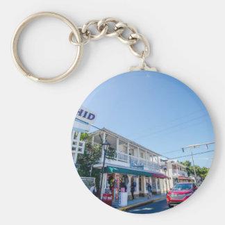 florida keys busy streets basic round button key ring