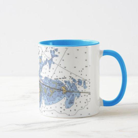 Florida Keys, Duck Key Nautical Chart Coffee Mug