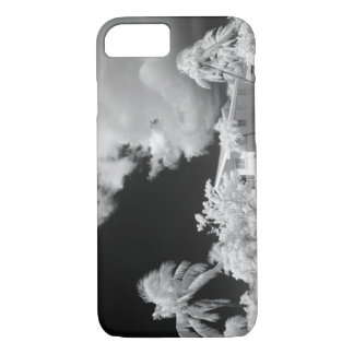 Florida Keys house and its palm trees, USA. iPhone 7 Case