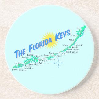 Florida Keys Map retro illustration Coaster