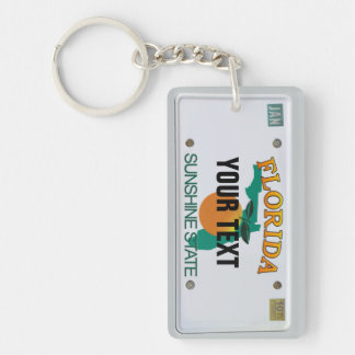 Florida License Plate Key Ring