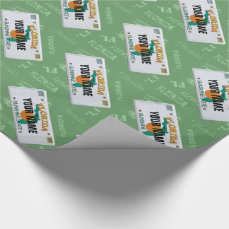 Florida License Plate with your Name Wrapping Paper