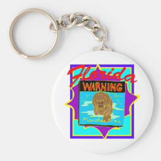 Florida Manatee Area #0011 Key Ring