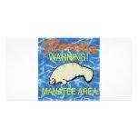 Florida Manatee Area #0022 Personalized Photo Card