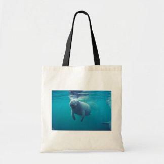 Florida Manatee Budget Tote Bag