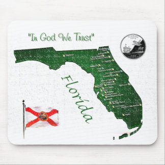 Florida Map 2009, Florida_quarter.. Mouse Pad