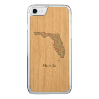 Florida map carved iPhone 8/7 case
