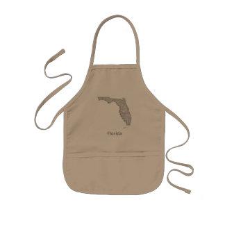 Florida map kids apron
