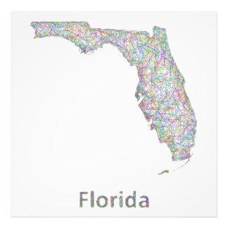 Florida map photo print