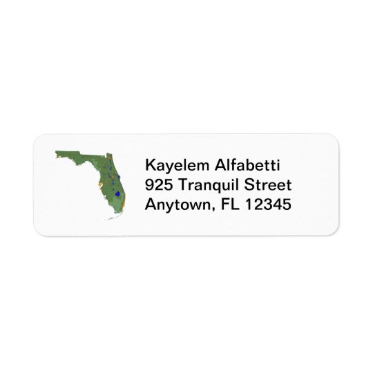 Florida Map Return Address Label