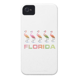 FLORIDA - Marching Tropical Flamingos iPhone 4 Covers