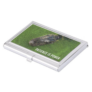 Florida Nature • Alligator • Patience is Power Business Card Holder