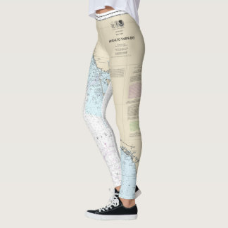 Florida Nautical Chart Havana to Tampa Bay Leggings