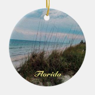 Florida Ocean Seaside Scene Christmas Ornament