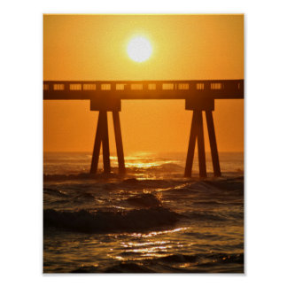 Florida Ocean Sunset 8.5x11 Poster Print