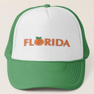 FLORIDA Orange Text Trucker Hat