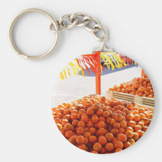Florida Oranges Basic Round Button Key Ring