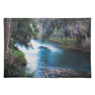 Florida Palm River Paradise Placemat