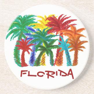 Florida palm tree coasters