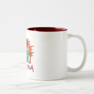 Florida palm tree mug