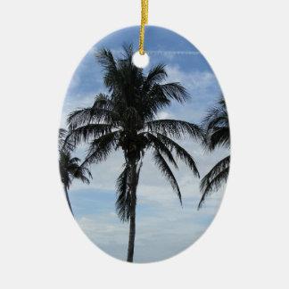 Florida Palm Trees Ceramic Oval Decoration