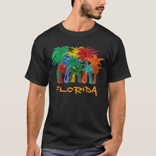 Florida palm trees mens shirt