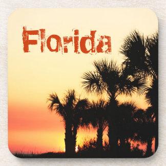 Florida - Palm Trees Sunset Drink Coasters