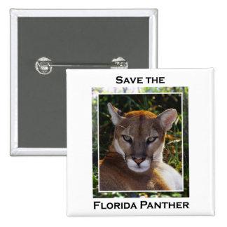Florida Panther 15 Cm Square Badge