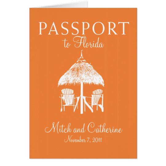 Florida Passport Wedding Invitation