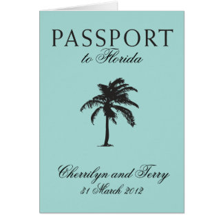Florida Passport Wedding Save the Date Card