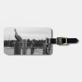 Florida, Pelican & Boat Dock luggage Tag