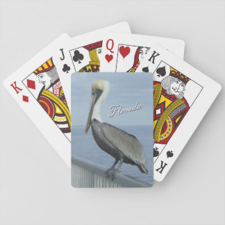 Florida pelican playing cards