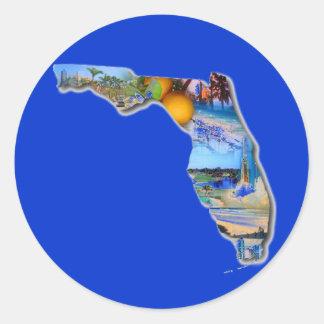 FLORIDA PICTURE DESIGN CLASSIC ROUND STICKER