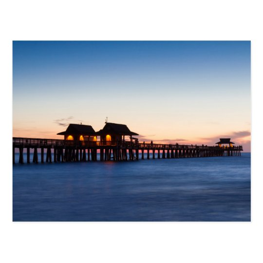 Florida - Pier of Naples at twilight postcard