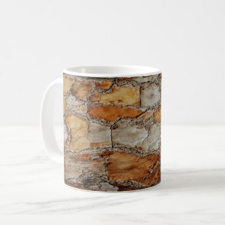 Florida Pine Tree Bark Design Coffee Mug