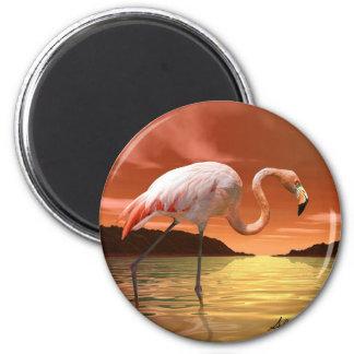 Florida Pink Flamingo Magnet