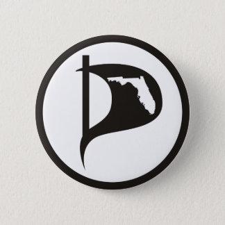Florida Pirate Party Flag Button