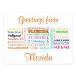 Florida places postcard