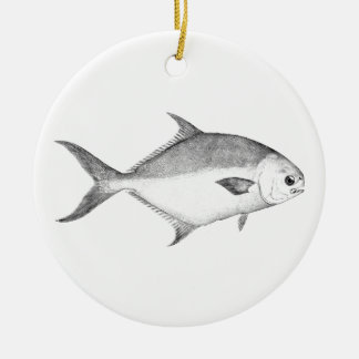 Florida Pompano Logo (line art) Christmas Ornament